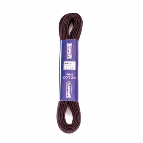 Woskowane płaskie sznurówki do butów 2,5 mm saphir