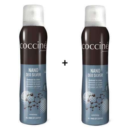 Dezodorant odświeżacz do butów nano deo silver coccine 150 ml x 2