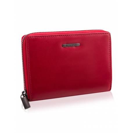 Elegancki damski portfel betlewski bpd-vtc-361 czerwony