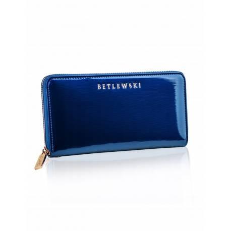 Stylowy damski portfel skórzany zbpd-bs-5297 niebieski