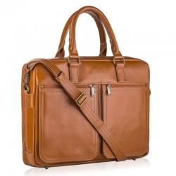 Skórzana torba na laptopa betlewski btm-02 camel
