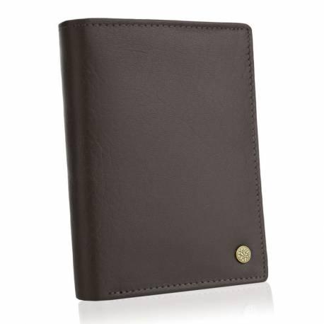 Skórzany brązowy męski portfel betlewski bpm-ht 575 brązowy