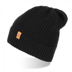Stylowa zimowa czapka męska czarna cz14 brodrene