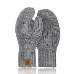 Damskie rękawiczki zimowe Brødrene R02 jasnoszary
