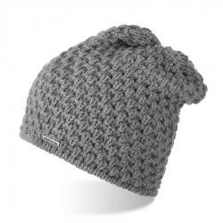 Damska czapka z polarem brodrene cz25 jasnoszary
