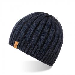 Zimowa czapka męska z polarem brodrene cz16 granatowa mulina
