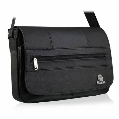 Skórzana saszetka torba na ramię betlewski btg-09