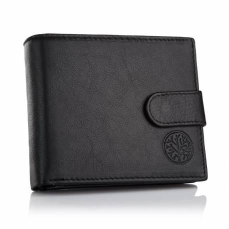 Skórzany portfel betlewski bpm-gtn-63 czarny