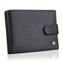 Skórzany portfel męski betlewski rfid bpm-bh 60 czarny