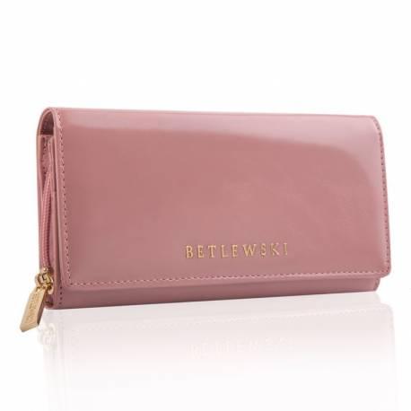 Damski modny portfel betlewski bpd-ol-106 różowy