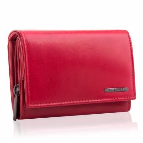 Damski portfel betlewski bpd-vtc-11 czerwony