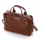Skórzana torba na ramię na laptop brødrene r02 jasny brąz