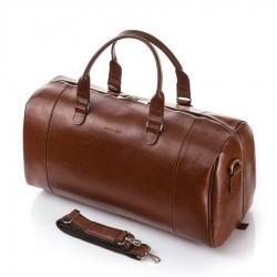 Męska torba podróżna ze skóry naturalnej brodrene r30 koniakowa