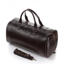 Elegancka torba podróżna skórzana walizka brodrene r30 ciemny brąz