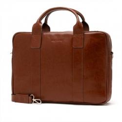Męska torba na ramię ze skóry naturalnej na laptop brodrene r01 jasny brąz