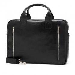 Skórzana torba na ramię na laptop brodrene r02 czarny