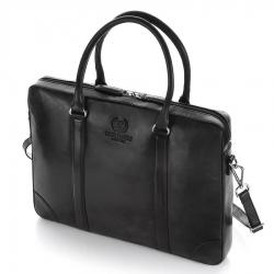 Czarna skórzana torba na laptopa 15,6 paolo peruzzi