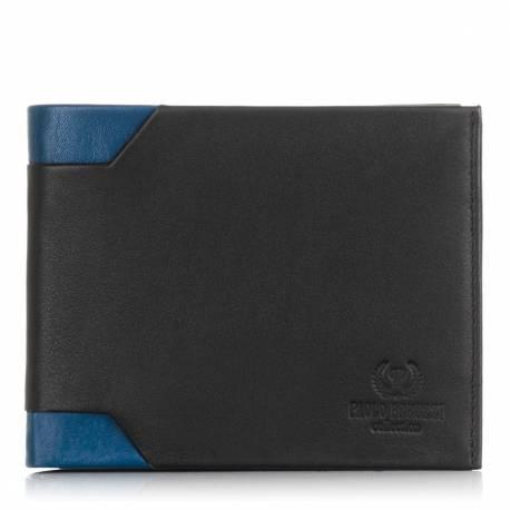 Czarny młodzieżowy portfel skórzany in-13 rfid
