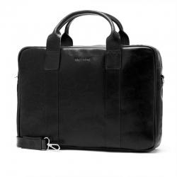 Męska torba na ramię ze skóry naturalnej na laptop brodrene r01 czarny