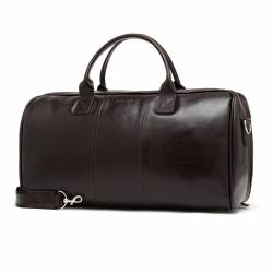 Podróżna torba na ramię ze skóry brodrene bl30 ciemny brąz smooth leather