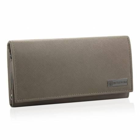 Stylowy damski portfel betlewski bpd-sa-13 beżowy