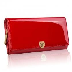 Elegancki czerwony duży portfel damski betlewski