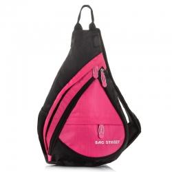 Różowy plecak sportowy na jedno ramię bag street