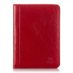 Biwuar skórzany na dokumenty czerwony