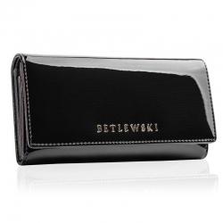 Duży skórzany portfel damski betlewski