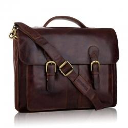Skórzana torba biznesowa tbs-315 betlewski brązowa