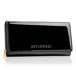 Skórzany portfel damski duży betlewski