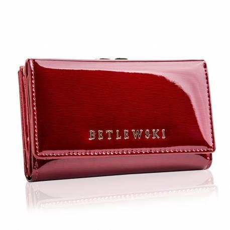 Skórzany portfel damski betlewski rfid z pudełkiem