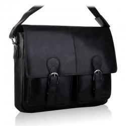 Czarna torba skórzana na laptop tbs-318 betlewski