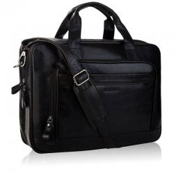 Duża skórzana torba męska na laptop do pracy