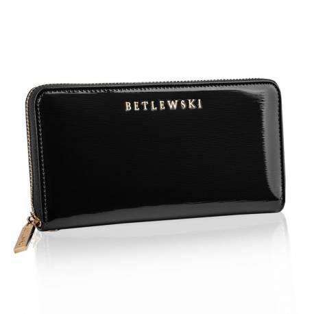 Skórzany portfel damski betlewski duży rfid