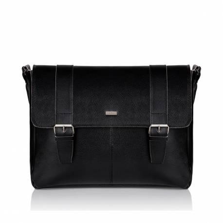 Skórzana męska torba na ramię na laptop