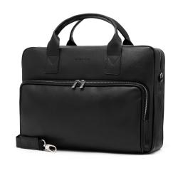 Czarna torba męska b21 brødrene na laptop 15,6'