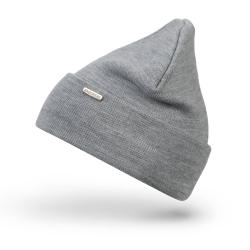 Jasnoszara damska czapka zimowa cz26 brodrene