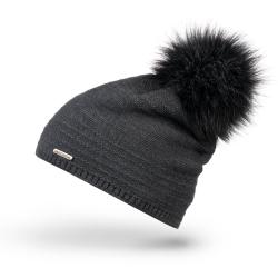 Modna czapka zimowa brodrene cz28 szara