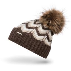 Ciepła czapka zimowa damska z polarem cz30 brodrene
