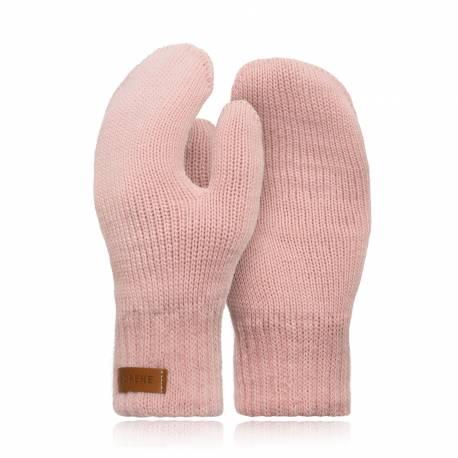Pudrowe rękawiczki damskie r02 brodrene