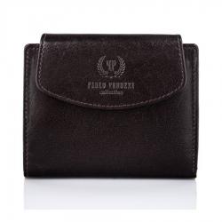 Brązowy damski portfel skórzany paolo peruzzi t-12