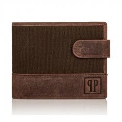 Męski brązowy portfel rfid t03 paolo peruzzi