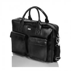 Czarna elegancka torba męska do pracy