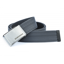 Ciemno szary parciany pasek do spodni brodrene p06 silver
