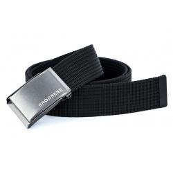Parciany czarny pasek do spodni brodrene p01 silver