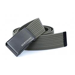 Oliwkowy pasek do spodni parcianka brodrene p04 graphite