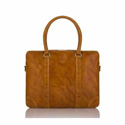 Skórzana torba męska teczka na laptop paolo peruzzi