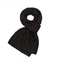 Czarny szalik damski wełniany paolo peruzzi