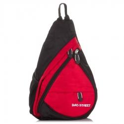 Czerwony plecak miejski na jedno ramię